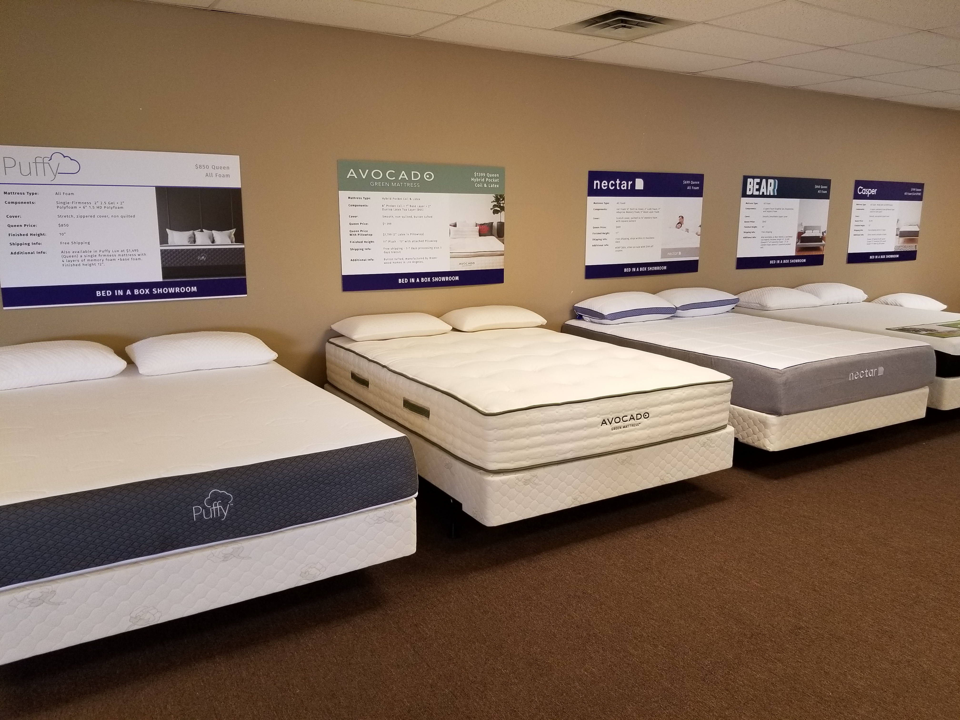 Bed n Box Showroom
